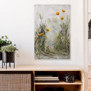 Sommerblomster i indretning