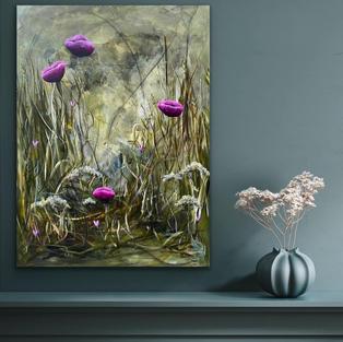 Floating flowers i indretning