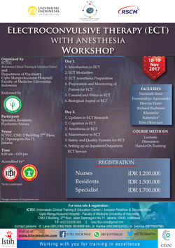 Electroconvulsive Therapy with Anesthesia Workshop 18-19Nov17