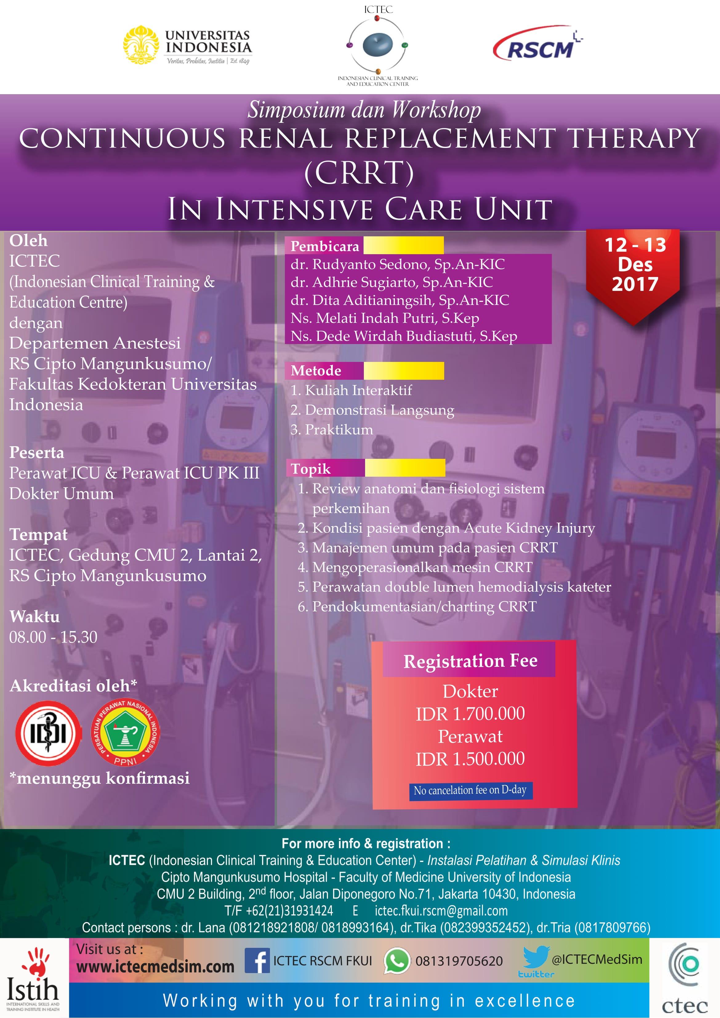 CRRT in ICU