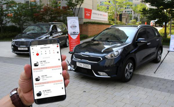 Kia Motors advances into car sharing business with WiBLE brand