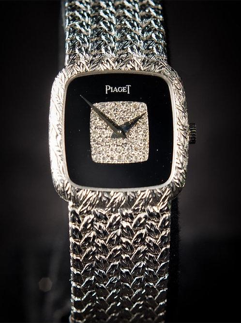 Piaget 18K White Gold Diamond Dial Dress Watch