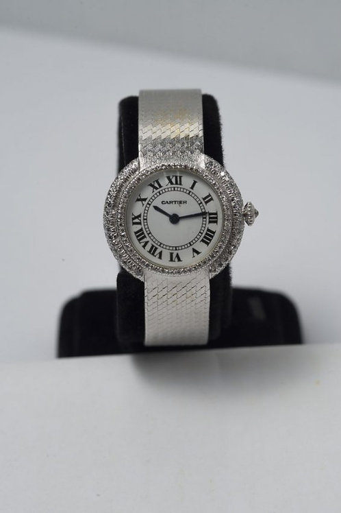 Cartier Lady's White Gold & Diamond Wristwatch