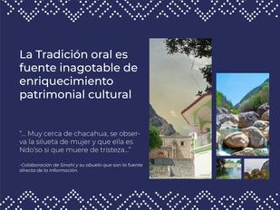 La Tradición oral es fuente inagotable de enriquecimiento patrimonial cultural