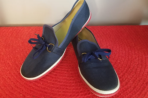 70's JCPenney's Red, White & Blue Canvas Slip-ons - 8M