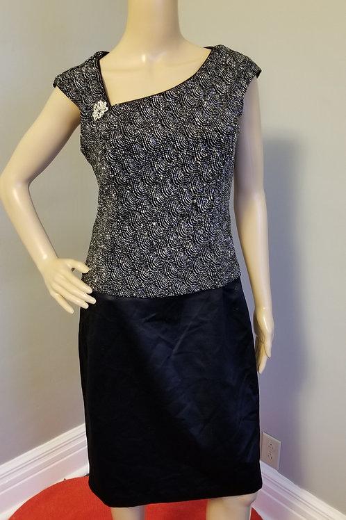 70's Patra Dress with Asymmetrical Neckline - M