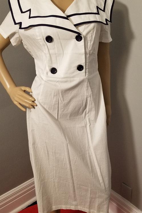 Vintage 40's Inspired Chic Star Wiggle Dress - XXL