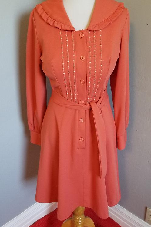 60's Teena Paige Salmon Dress - M