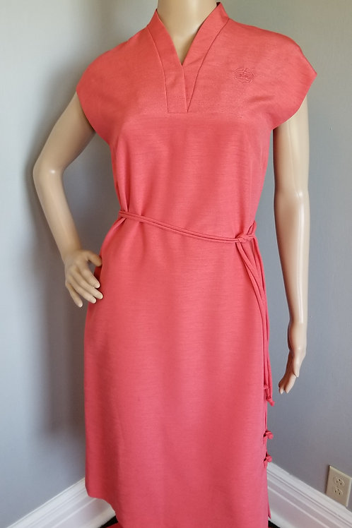 70's Polynesian Casuals, Hawaii, Shift Dress in a Soft Red - M