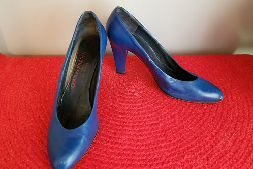 80's Charles Jourdan pumps in a rich royal blue - 9.5B