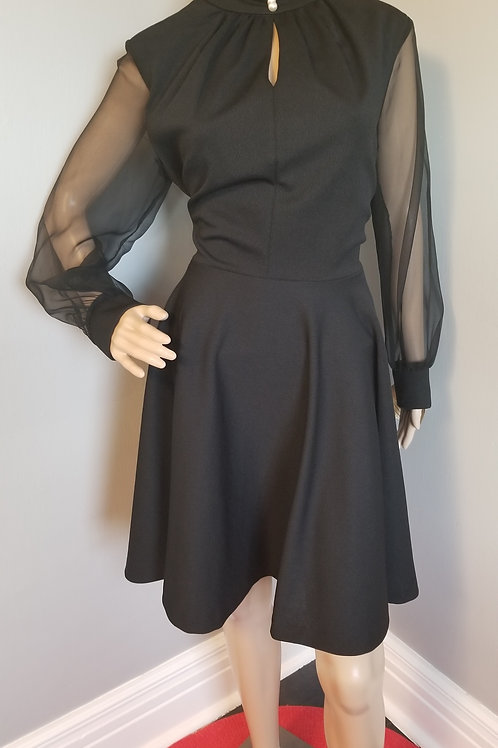 70's LBD with Pearls and Peekaboo Neckline NWT  - M/L