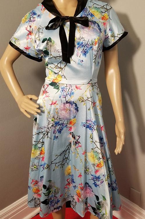 Vintage Inspired Hearts & Roses (H&R) Fit-n-Flare dress - L