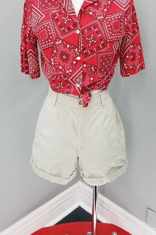 90s Palmetto's high waisted shorts in light khaki  - M
