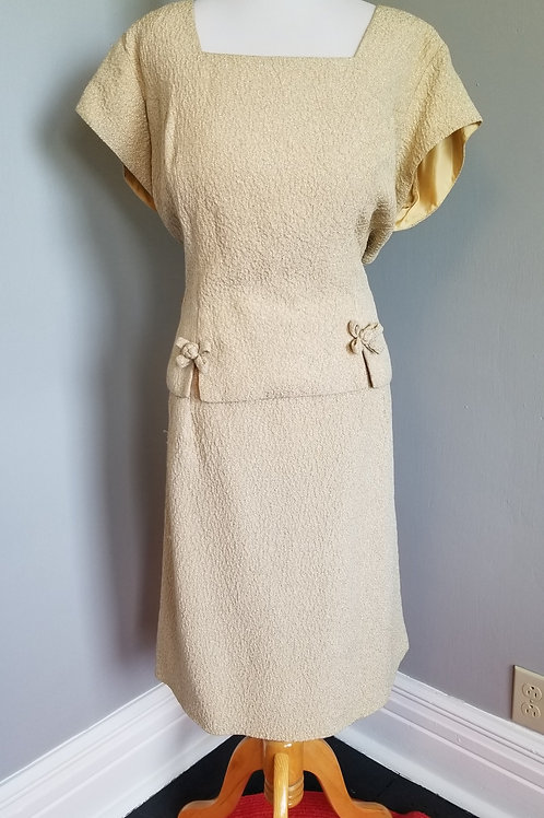 60's Blakely Gold Cocktail Dress