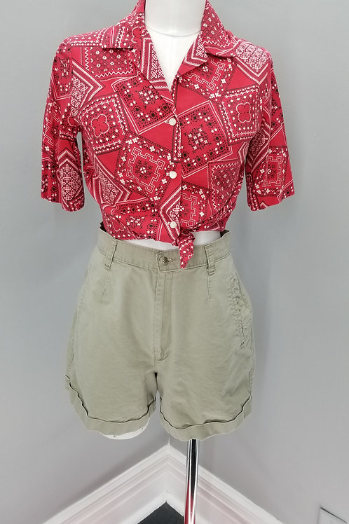 90s Palmetto's high waisted shorts in khaki  - M