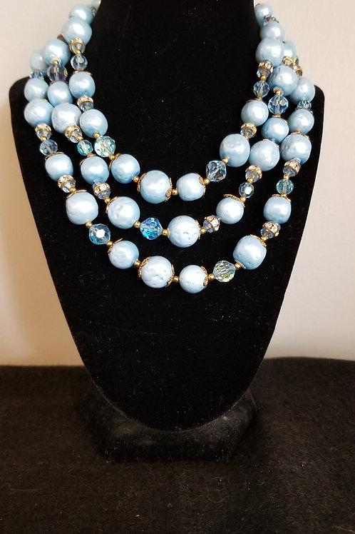 60's Blue Choker Necklace