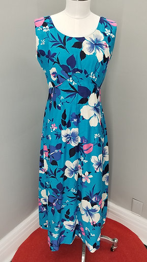 70s Royal Hawaiian Dress - M