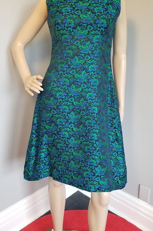 60s Peck & Peck Jacquard Party Dress - S