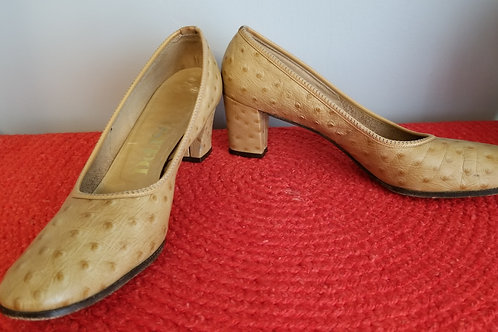 60s DeLISO pumps. Embossed leather - 10AA