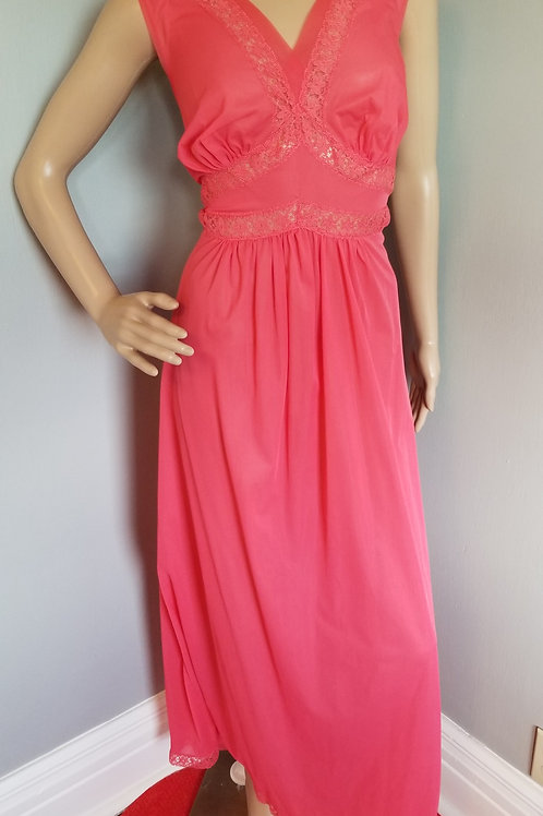50's Roger's Salmon Nightgown - L 40