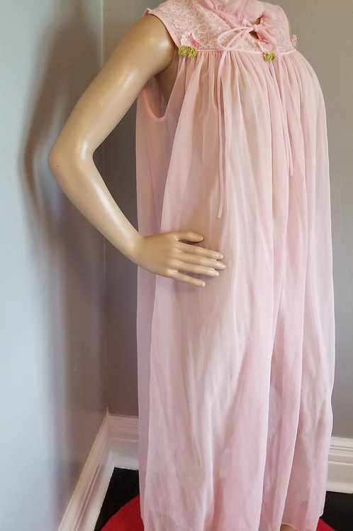 70's GMc Pink Maxi Nightgown -L