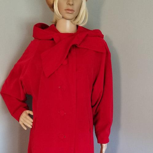 60s  Red Snooty Fox Velvet Coat - M