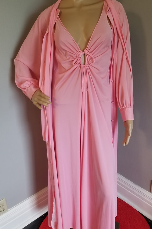 60s Merlita Peignoir with Large Pussybow and Peek-a-boo front - M