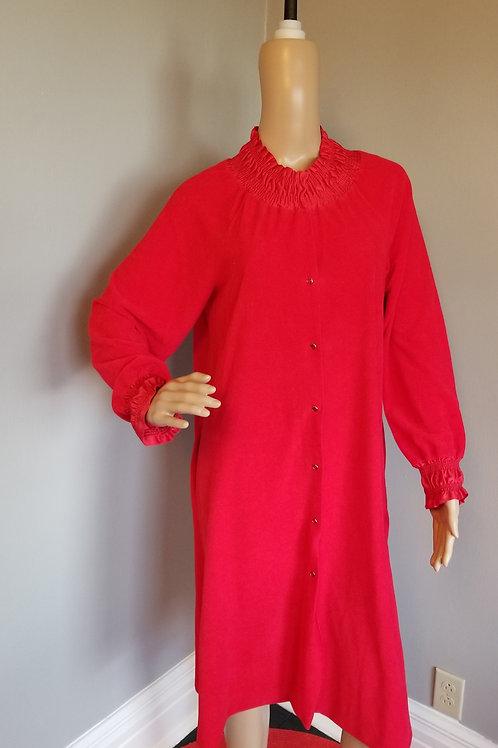 70's Vanity Fair Bright Red Robe - S