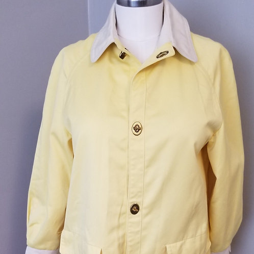 60s Lemon Yellow Weatherbee Rain Jacket - M / L