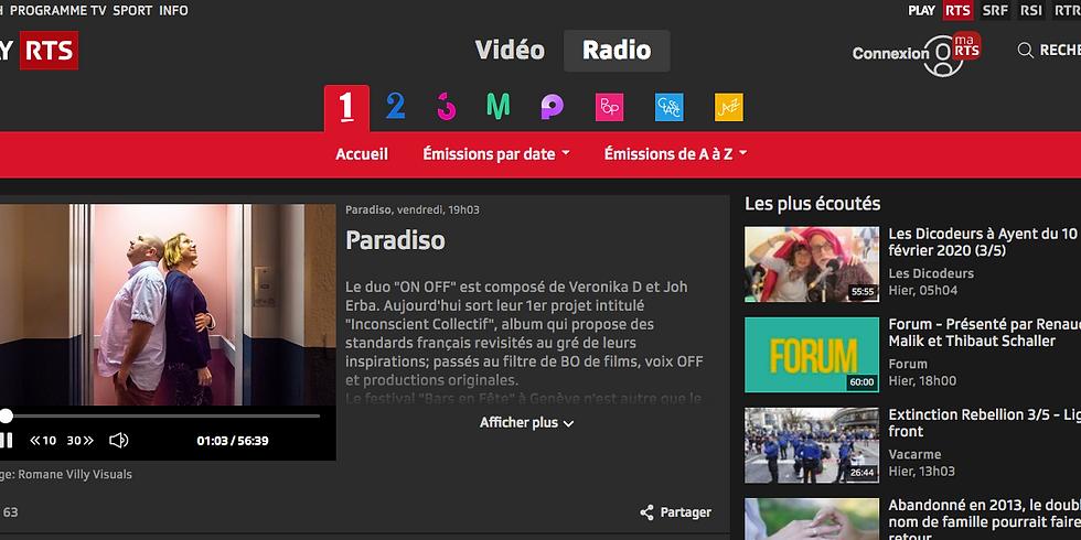 INTERVIEW radio Paradiso du 7/02/2020 en podcast