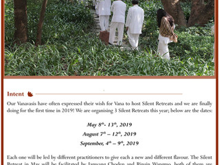 Silent Retreat 7. - 12. Aug. 2019 / 4. - 9. Sep. 2019