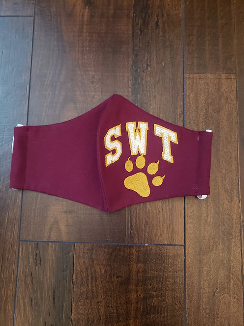 Southwest Texas State SWT Face Mask (with personalization option)