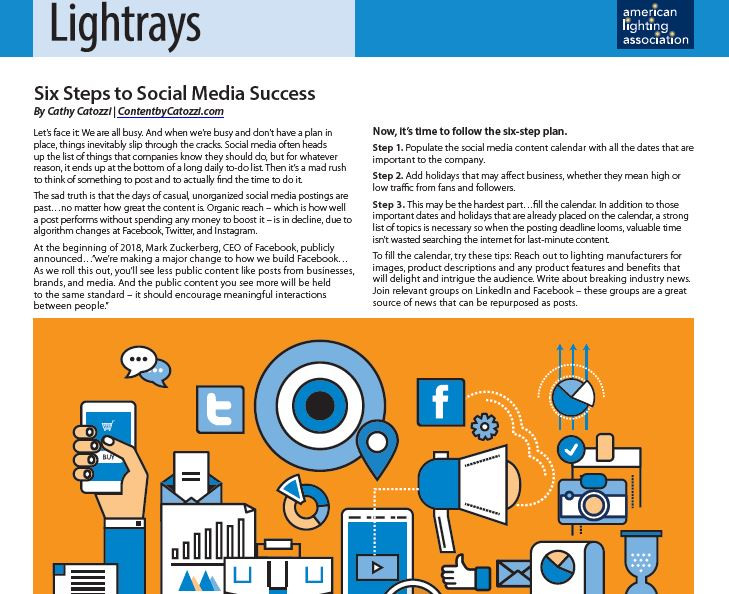 6 Steps to Social Media Success link