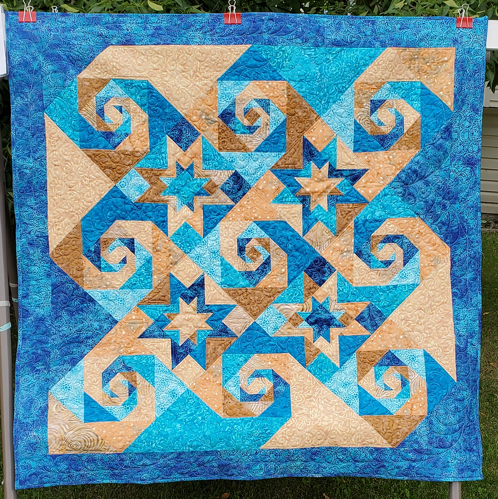 lap size quilt designed and stitched by Allison Spence, Meadow Rose Quilting