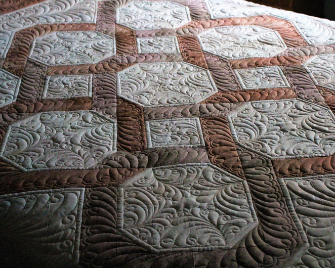 Challenge 2017 - #24, Wedding Rings Quilt