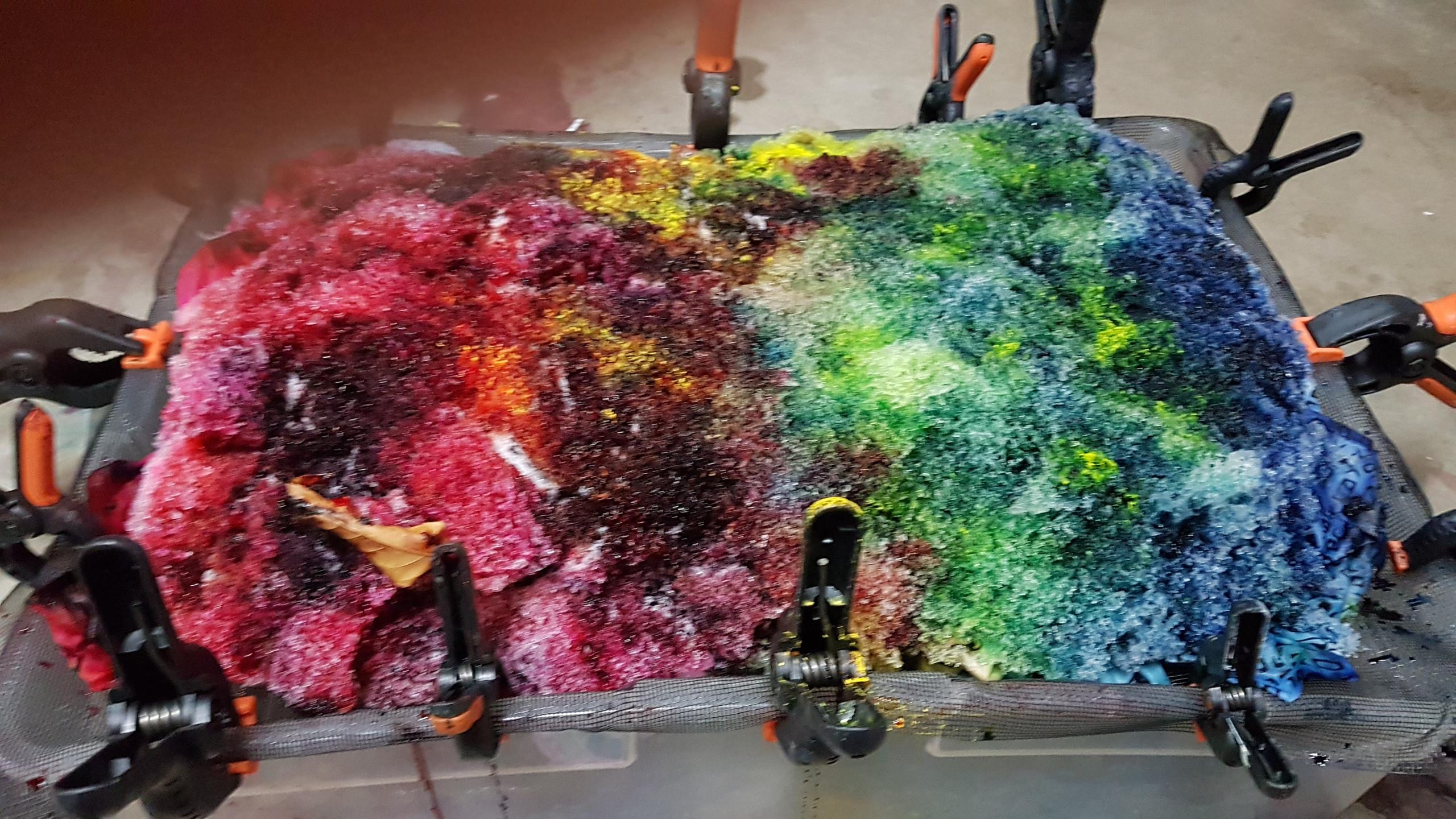 snow dye - snow melting 1