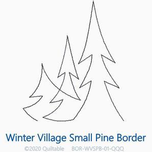 WINTER VILLAGE SMALL PINE BORDER