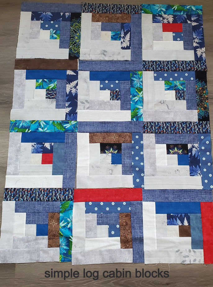 Coloured Cabins - Let's Sew a Quilt!
