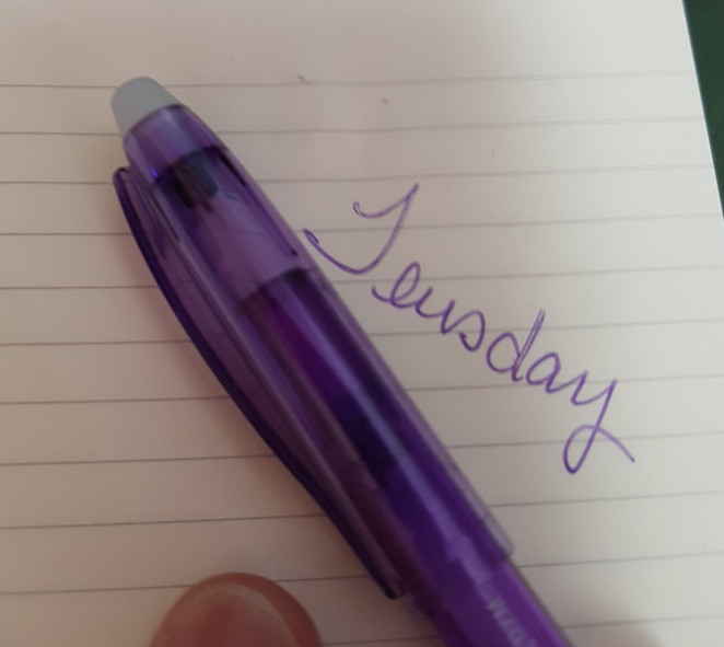 Tuesday Tip - erasable pens