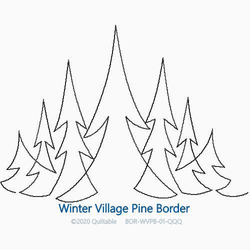 WINTER VILLAGE PINE BORDER