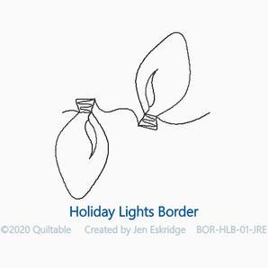 HOLIDAY LIGHTS BORDER