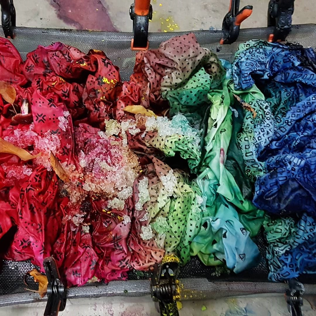 snow dye - snow melting 3