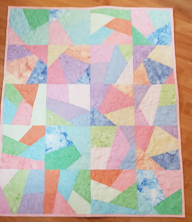 Challenge 2017/18 - #49 - Stack and Slash Baby Quilt