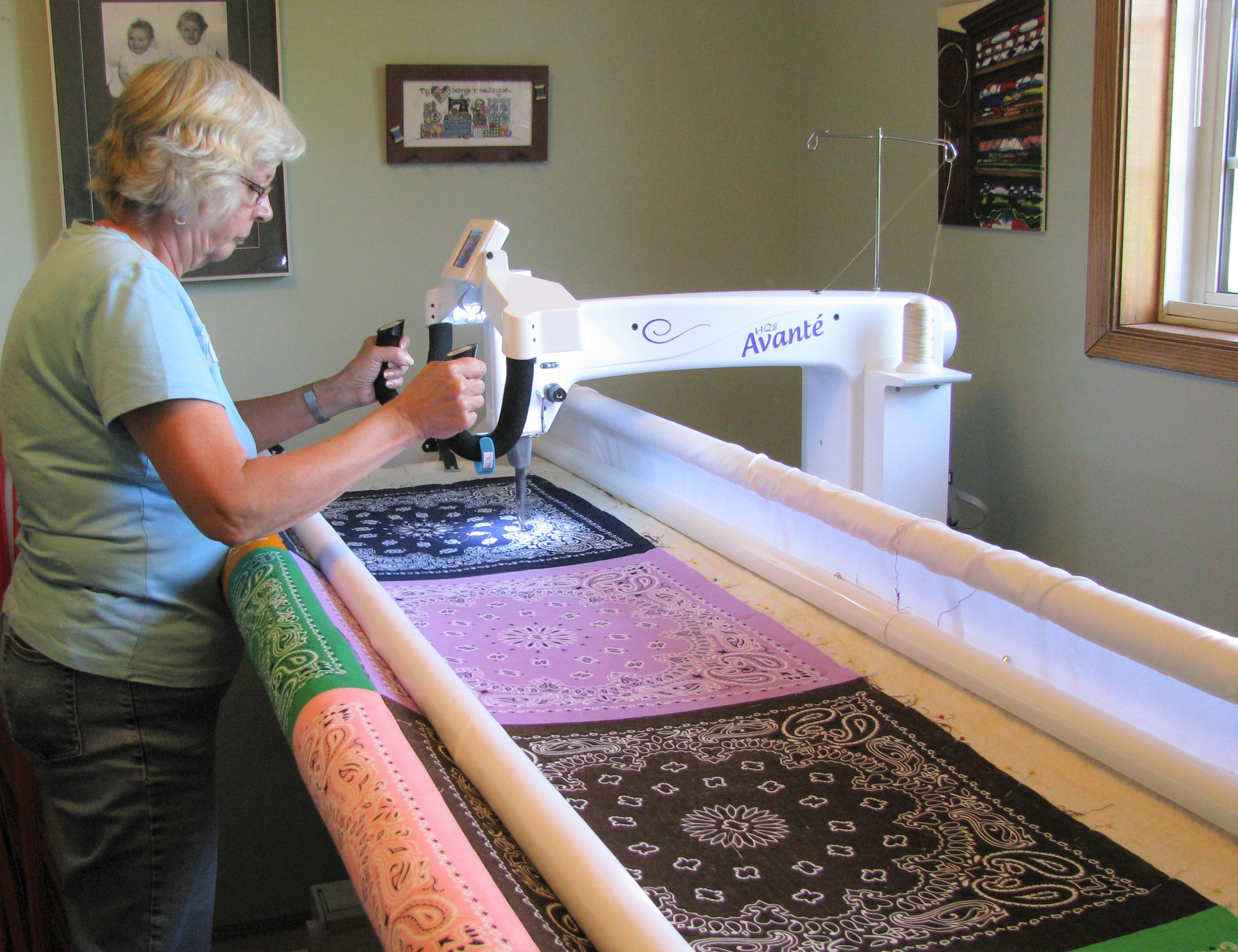 Managing Quilts on a Frame