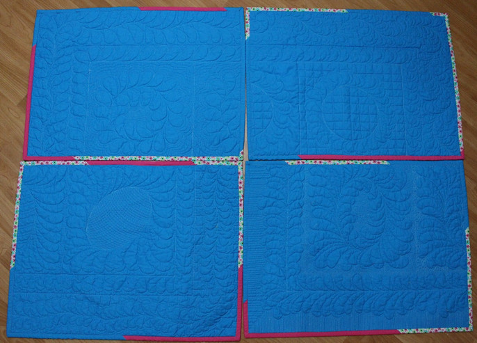 Challenge 2017 - #21 & 22, class sample quilts