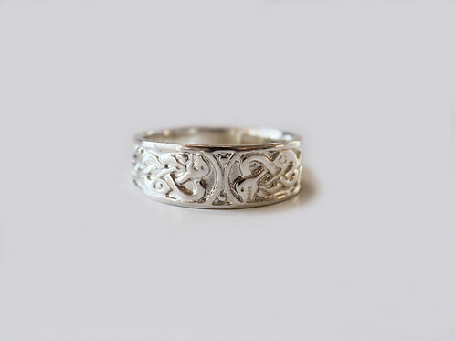 Silver Celtic Serpent Ring