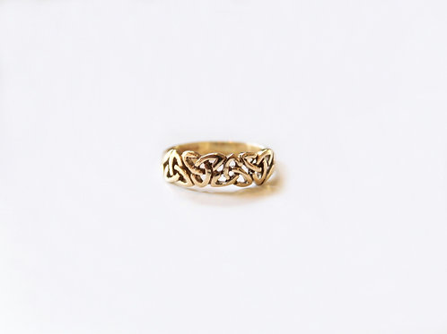 Gents Gold Trinity Knot Celtic Ring