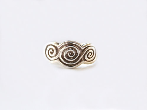 Silver Celtic Scroll Ring