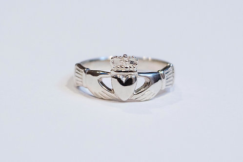 Maids Silver Claddagh Ring