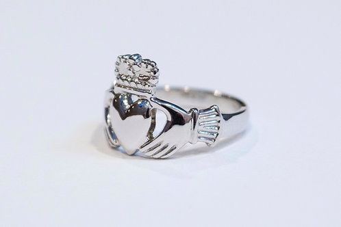 Gent's Silver Claddagh Ring